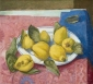 Quinces on a dish. 40x50 cm.