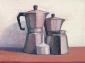 Espresso pots. 30x40 cm.