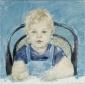 Jef in kinderstoel. 1971 35x35 cm.