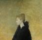 Vrouw in het zwart. 1972 100x105 cm. Prix de Portrait Paul-Louis Weiller, Parijs.