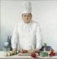 Chef-kok Norbert Tillard. 1990 120x115 cm.