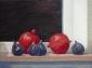 Vijgen en granaatappels. 30x40 cm.