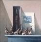 Oude peren, afrikaans beeld en De kleine zeemeermin. 70x70 cm.