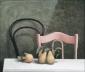 Peren op tafel, stoelen. 60x70 cm.