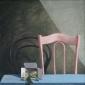 Peer in doosje en stoelen. 70x70 cm.