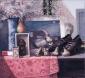 Oude peertjes, Rousseau en spiegelbeeld. 55x60 cm.