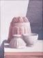 Puddingvorm en twee kommen. 40x30 cm.