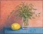Kruiden in glas, citroen. 20x30 cm.