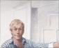 Zelfportret met gestreept overhemd. 1999 50x60 cm.